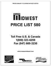 Maass Midwest Price List 580